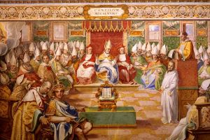 Council of Nicaea image from Wikimedia Commons