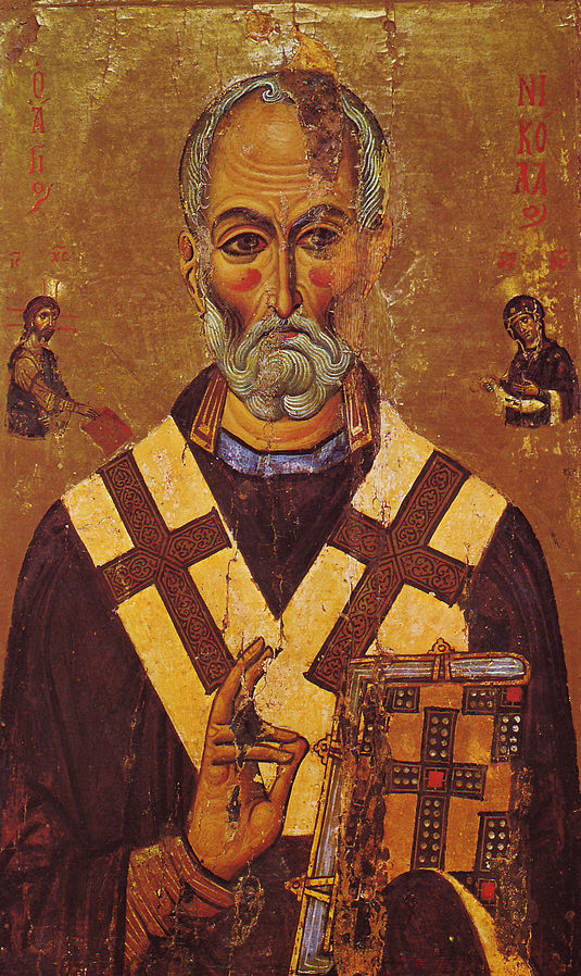 St Nicholas icon from Wikimedia Commons