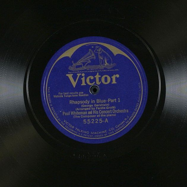 Rhapsody in Blue record image from the Library of Congress