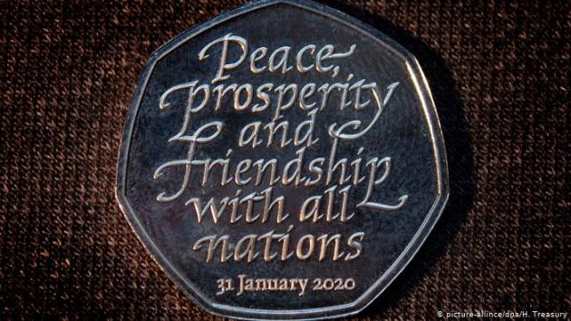 Brexit coin image from Deutsche Welle