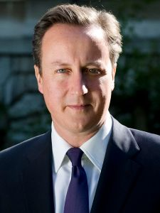 David Cameron official portrait from HM Government