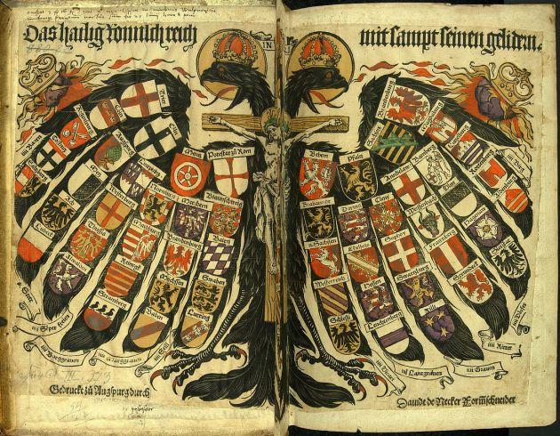 Holy Roman Empire diagram by Jost de Negker