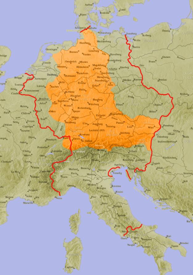 Holy Roman Empire map by Rex Germanus